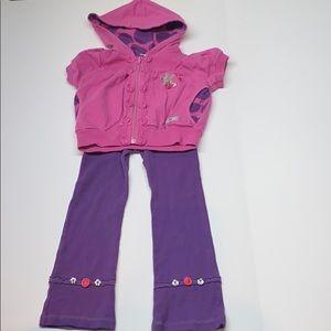 Naartjie Pink & Purple Hoodie & Matching Pants